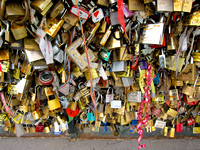 Locks on Seine Bridge